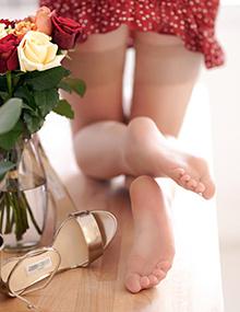Stocking tube | Femme sexy en collant, photo de pied
